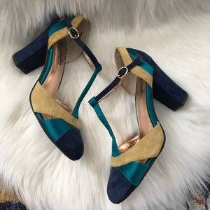 Special Edition Seychelles Leather T-Strap Heels